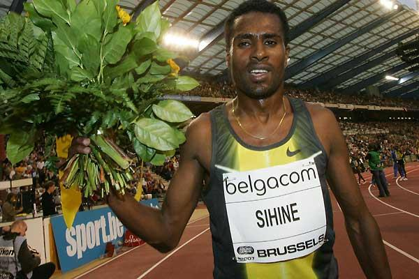 Sileshi Sihine after his victory at the IAAF Golden League in Brussels (AFP / Getty Images)