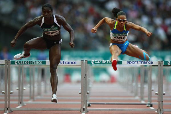 Delloreen Ennis-London takes a surprise victory in the women's 100m hurdles (Getty Images)