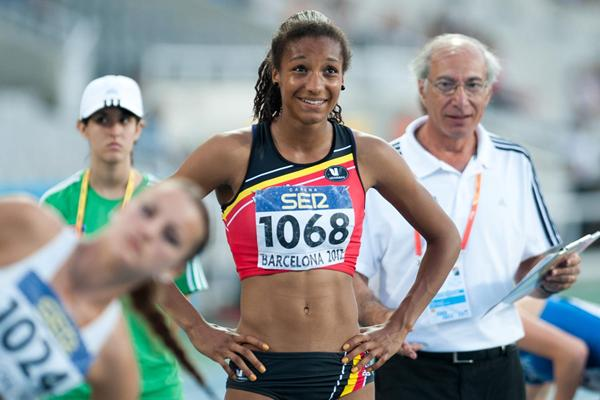 Belgium's Nafissatou Thiam at the 2012 IAAF World Junior Championships (Erik van Leeuwen)