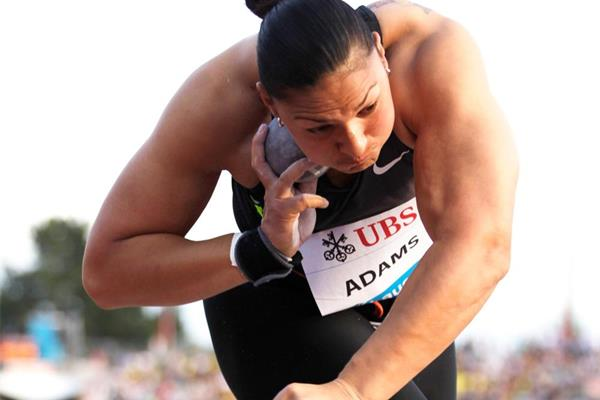 Valerie Adams on her way to victory in the shot put in Lausanne (Gladys Chai von der Laage)