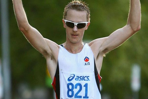 Jared Tallent wins the 20km 2012 Australian title (Getty Images)
