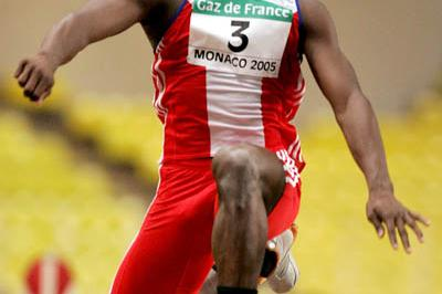 Yoandri Betanzos of Cuba wins the Triple Jump at the World Athletics Final (Getty Images)