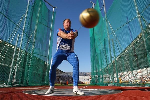 Libor Charfreitag takes the Hammer Throw title at the IAAF / VTB Bank Continental Cup in Split (Getty Images)