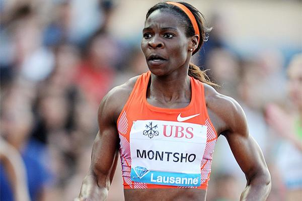 Amantle Montsho on her way to winning the 400m in Lausanne (Giancarlo Colombo)