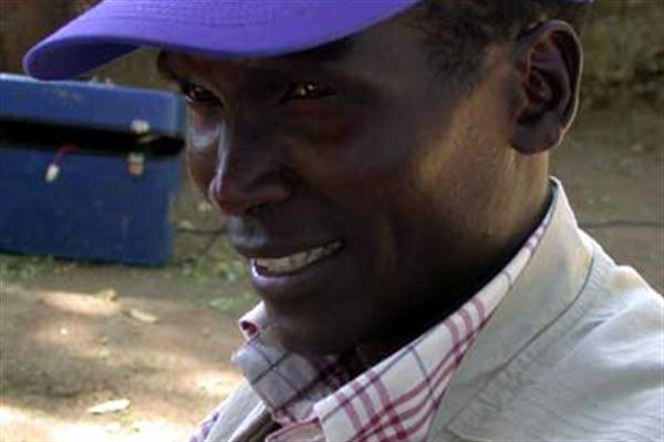 Paul Tergat with the World Food Programme in Sudan (WFP)
