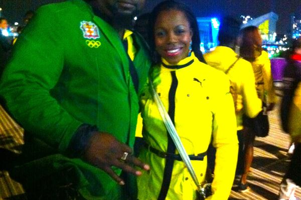 Veronica Campbell-Brown at the Opening Ceremony of the London Olympic Games (Claude Bryan)