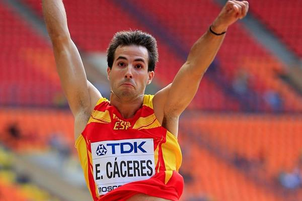 Eusebio Caceres at the IAAF World Championships Moscow 2013 (Getty Images)