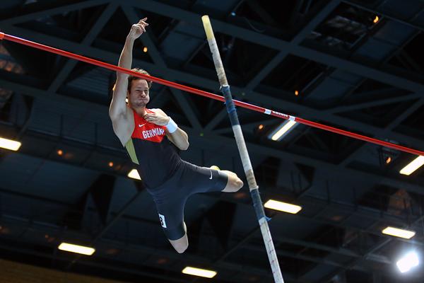 Kai Kazmirek in the heptathlon pole vault (Getty Images)