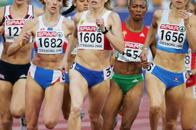 Svetlana Klyuka in her 800 heat in Gothenburg (Getty Images)