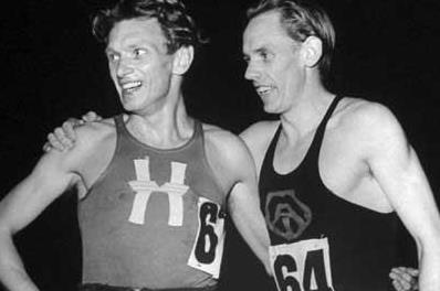 Arne Andersson (l) and Gunder Hägg (r) (Time Life / Getty Images)