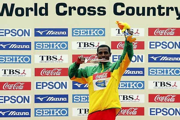 Bekele with short race gold (Getty Images)