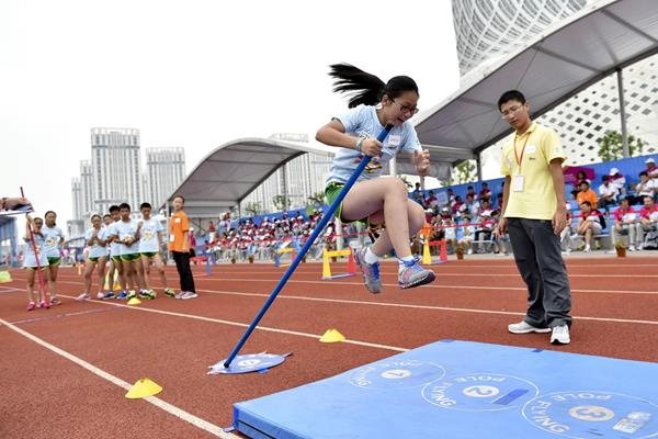 Children compete in the Kids' Athletics event at the Youth Olympic Games in Nanjing (Getty Images)