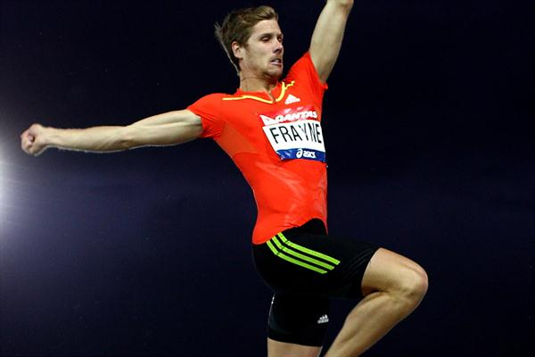 Henry Frayne flies to Long Jump win at the 2012 Australian Olympic Trials  (Getty Images)