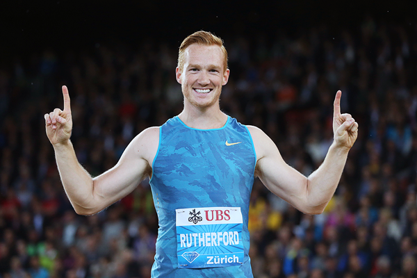 Greg Rutherford after winning the long jump at the IAAF Diamond League meeting in Zurich (Jean-Pierre Durand)