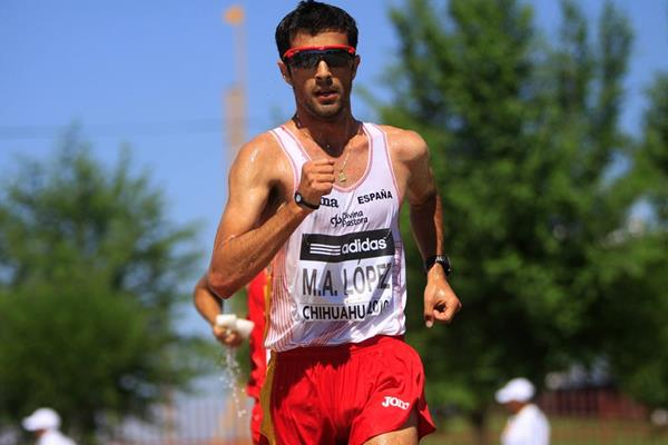 Miguel Angel Lopez at the 2010 IAAF World Race Walking Cup in Chihuahua (Getty Images)