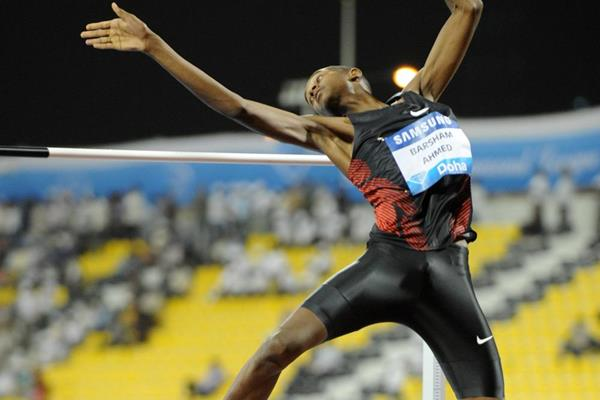 Mutaz Essa Barshim in action at the 2012 Doha Diamond League (Jiro Mochizuki)
