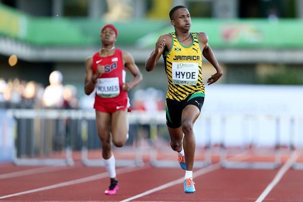 Jamaican hurdler Jaheel Hyde (Getty Images)