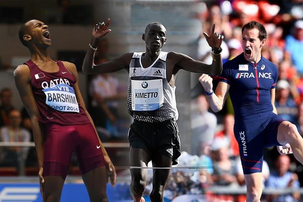 The 2014 IAAF World Athlete of the Year men's finalists (Getty Images)