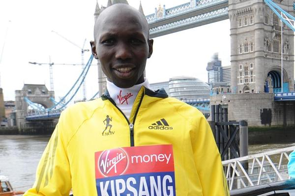 Wilson Kipsang ahead of the 2013 Virgin London Marathon  (Getty Images)