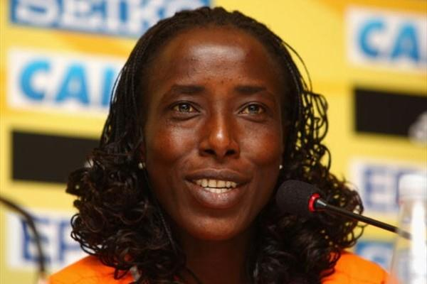 Lornah Kiplagat at the IAAF Press Conference in Rio (Getty Images)