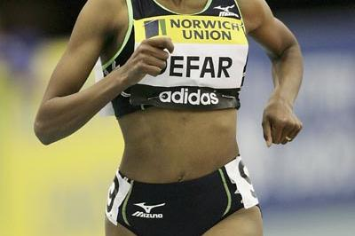 Meseret Defar of Ethiopia wins the 3000m in Birmingham (Getty Images)