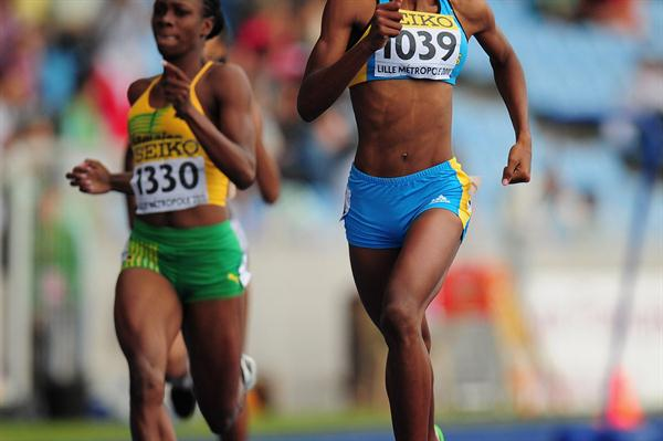 Shaunae Miller on the way to the World youth 400m title in Lille (Getty Images)