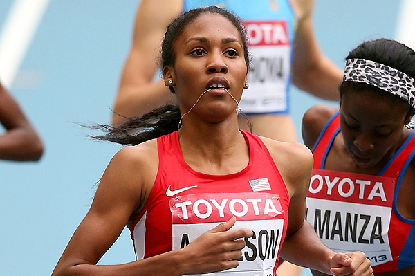 Ajee Wilson in action in the 800m (Getty Images)