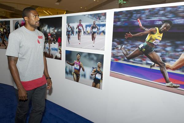 David Oliver in Shanghai ahead of the 2014 IAAF Diamond League meeting (Errol Anderson)