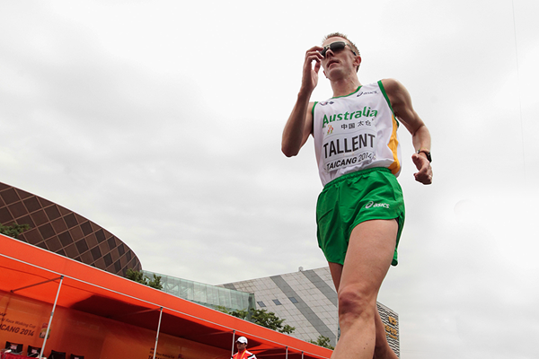 Australian race walker Jared Tallent in action in Taicang (Getty Images)