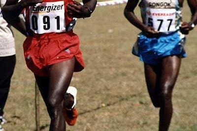 Eliud Kipchoge leads Isaack Songok - 4k North Rift Valley cross (David Macharia)