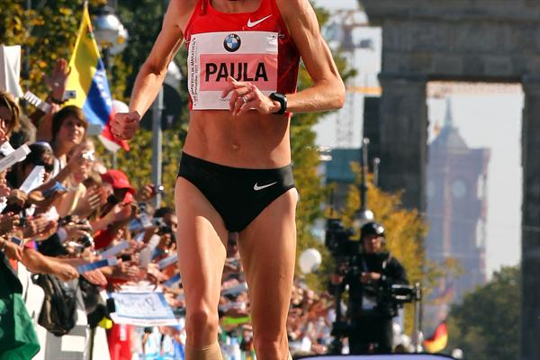 Paula Radcliffe settles for third in Berlin (Getty Images)