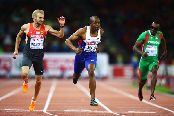 James Dasaolu wins the 100m at the European Championships (Getty Images)