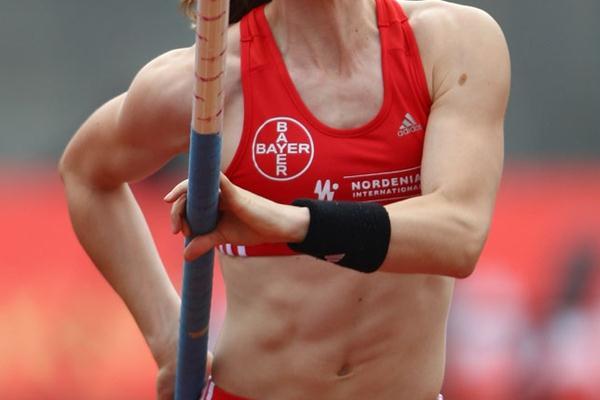 A 4.61m Beijing tune-up for Silke Spiegelburg in Wattenscheid (Bongarts/Getty Images)