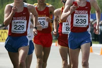 Aleksey Bartsaykin of Russia during the Junior's Men's 10km race (Getty Images)
