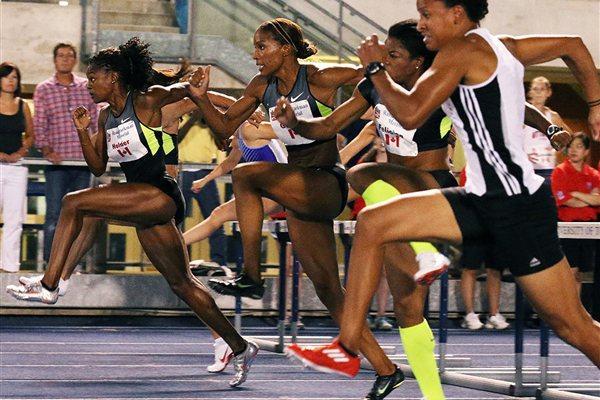 Nikkita Holder en route to her victory in Toronto (Claus Andersen (organisers) for the IAAF)