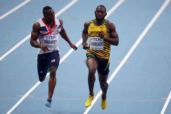 Nickel Ashmeade in the mens 100m at the IAAF World Athletics Championships Moscow 2013 (Getty Images)