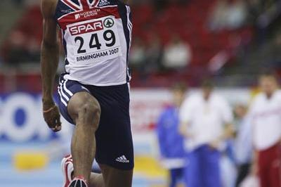 Nathan Douglas qualifies for the TJ final in Birmingham (Getty Images)