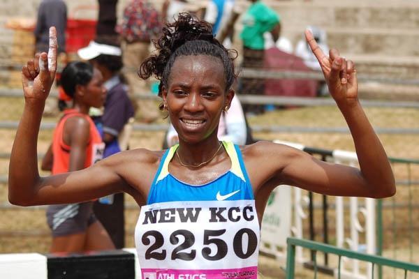 Kenyan Olympic trials 10,000m winner Lucy Kabuu (Ricky Simms)