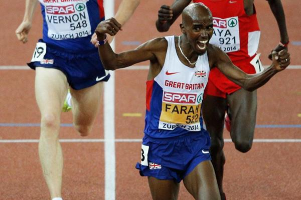 Mo Farah wins his second European 10,000m title (Getty Images)