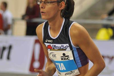 Tia Hellebaut in Gent (Nadia Verhoft)