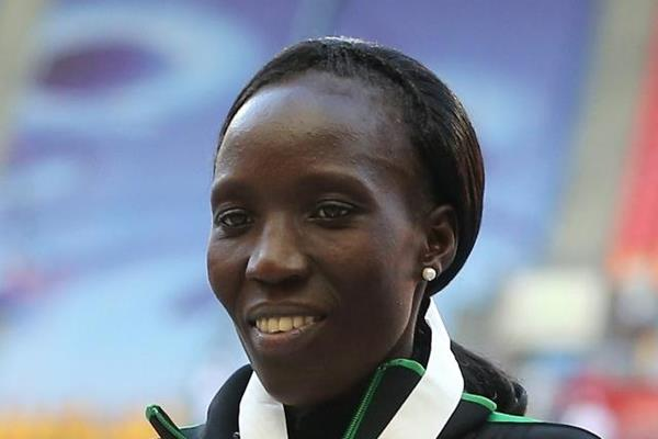 Edna Kiplagat at the IAAF World Athletics Championships Moscow 2013 (Getty Images)