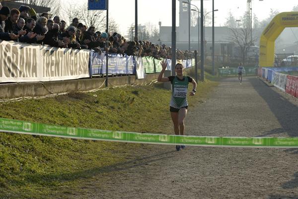 Silvia La Barbera on her way to winning at the 2015 Cross di Villa Lagarina (Organisers)