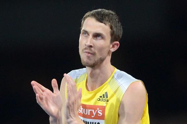 Bohdan Bondarenko at the 2013 IAAF Diamond League in London (Kirby Lee)