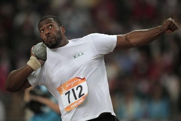 Sultan Abdulmajeed Al-Habshi of Saudi Arabia in the Shot Put at the 2010 Asian Games (Getty Images)