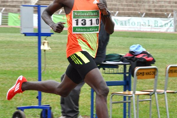 David Rudisha at the Kenyan Olympics Trials (Muthoni Njuki (Capital FM))