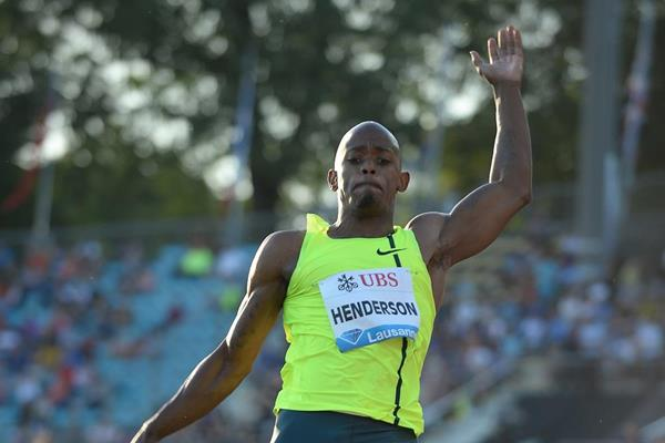 Jeff Henderson at the 2014 IAAF Diamond League in Lausanne (Giancarlo Colombo)
