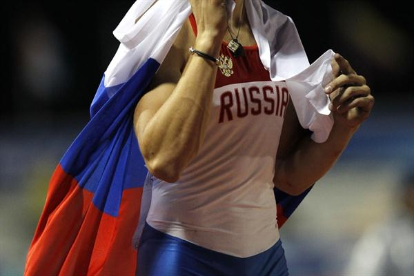Russia's Anton Ivakin, winner of the men's Pole Vault with 5.50m (Getty Images)