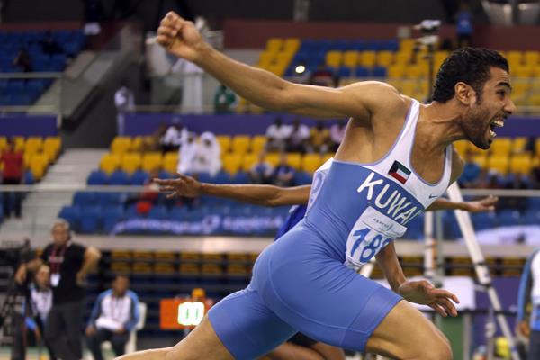 Abdulaziz Al-Mandeel at the 2016 Asian Indoor Championships (Organisers)