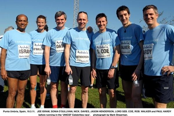 UNICEF Run, Punta Umbria - World and Olympic champions along with the good, the bad and the ugly :) made up of IAAF staff and media (IAAF.org)