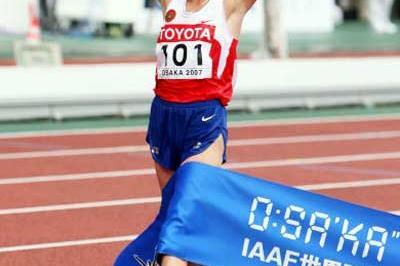 Olga Kaniskina (RUS) wins the 20km Race Walk (Getty Images)